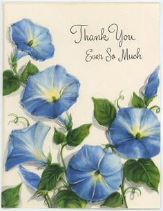 VINTAGE BLUE MORNING GLORY FLOWERS VINE ART SCRAPBOOKING OLD LITHOGRAPH PRINT
