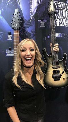 Bass, Guitar Girl, Nita Strauss, Best Guitarist, Women Of Rock, Heavy Metal Music, Beautiful Guitars, Iron Maiden, Hard Rock