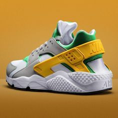 Out now! The men's Nike Air #Huarache Lucid Green/University Gold. Available online at #jdsports.co.uk now and in stores today. ( code: 198635) by jdsportsofficial