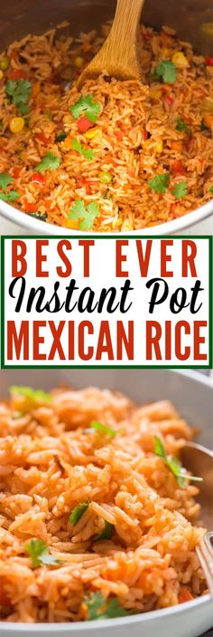Now make restaurant-style instant pot mexican rice easily at home. Its packed with flavors and is great with any Mexican dishes especially tacos burritos. Mexican Rice Recipes, Rice Recipes For Dinner, Instant Pot Dinner Recipes, Mexican Meals, Mexican Rice Crock Pot Recipe, Mexican Rice Seasoning, Mexican Rice Recipe Restaurant Style, Easy Mexican Rice, Mexican Rice Dishes