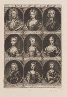 Bakewell, Elizabeth : Birchin Lane, Cornhill, London  The Royal Family of Great Britain  c.1764-70s Mezzotint | RCIN 603915