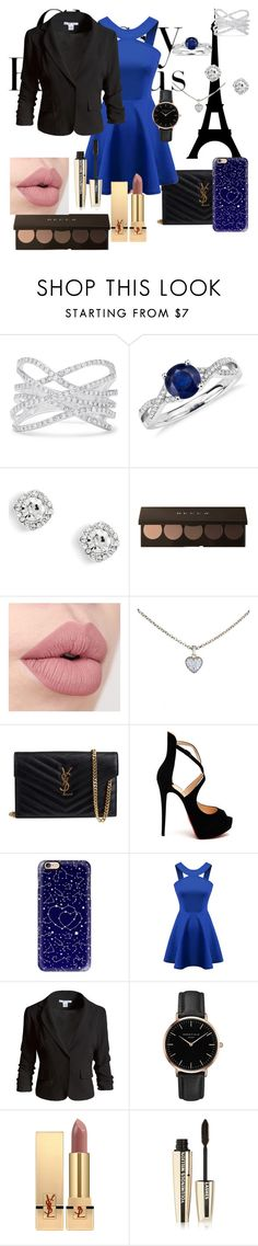"""""""Untitled #26"""" by marianayasmin on Polyvore featuring Effy Jewelry, Blue Nile, Cartier, Yves Saint Laurent, Christian Louboutin, Casetify, Chicnova Fashion, Sans Souci, Topshop and L'Oréal Paris"""