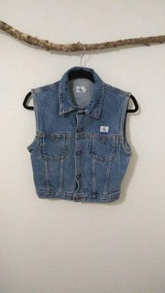 Items similar to Calvin Klein vintage Jean vest on Etsy Jean Vest, Urban Outfits, Vintage Jeans, Calvin Klein, My Etsy Shop, Trending Outfits, Clothes, Shopping, Check