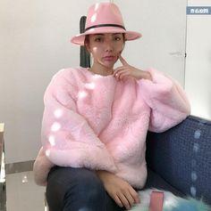 pullover pink faux fur sweatshirt jacket