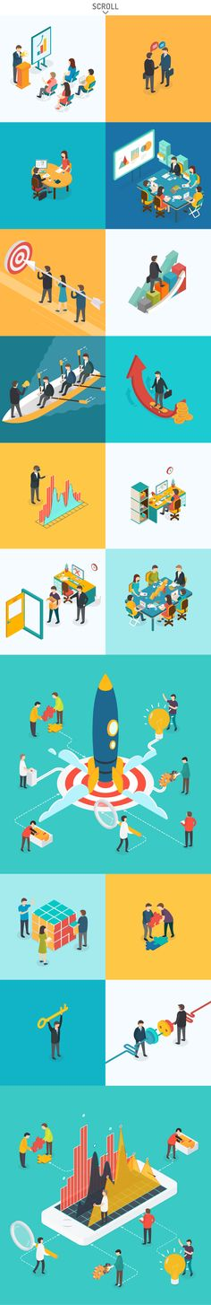 Isometric Office by Antikwar on @creativemarket