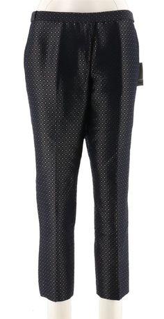 9f00a944dd35c Calvin Klein Womens Petite Pattern Dress Pants Zipper Button NAVY MULTI 10P  NEW  fashion  clothing  shoes  accessories  womensclothing  pants (ebay link )