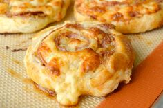 Cheesy French Pinwheels (I would probably replace the salami with roast beef or ham, but it looks terrific and easy)