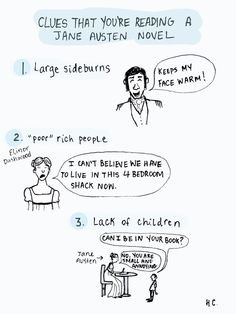 Humorous look at some common elements of Jane Austen's novels.