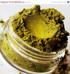 Monster - Semi Matte Bright Yellow Green Undertone Mineral Eyeshadow - 10 Gram Sifter Jar - SMASH. $4.20, via Etsy.