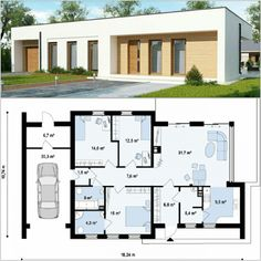 New Ideas For Home Library Ideas Layout Floor Plans Family House Plans, New House Plans, Dream House Plans, Modern House Plans, Small House Plans, House Floor Plans, Building Plans, Building A House, Plan Ville