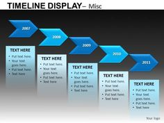 Classic PowerPoint Timeline Template is a free template that shows ...