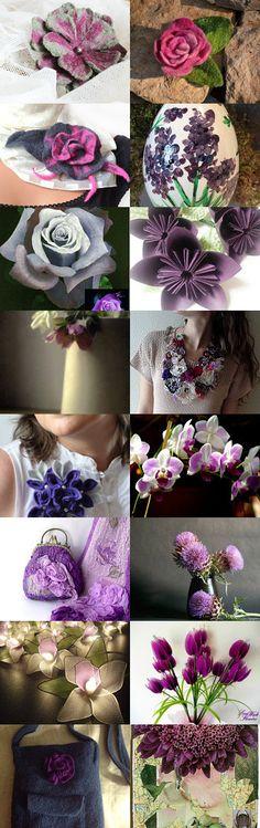 Felt Flower by Agnieszka on Etsy--Pinned with TreasuryPin.com