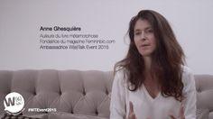 Anne Ghesquière, fondatrice du magazine Femininbio.com et auteure du livre métamorphose, Ambassadrice W(e)Talk Event 2015