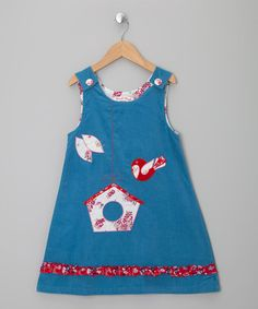 Take a look at this Blue Bird House Corduroy Jumper - Infant, Toddler & Girls by Powell Craft on #zulily today!