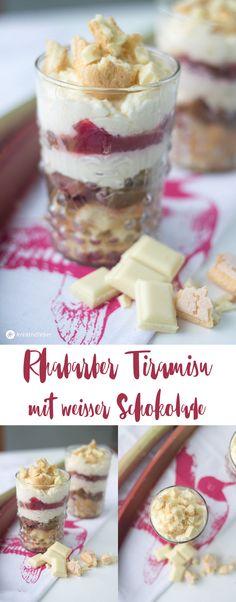 Rhabarber Tiramisu mit weißer Schokolade - leckeres Dessert - Rezeptideen mit Rhabarber