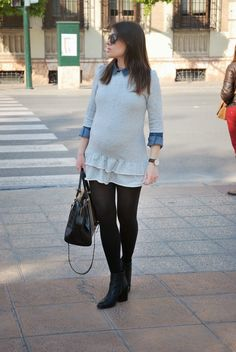 Grey Dress. Pregnant Style.