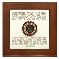 Everything is for a reason... Framed Tile