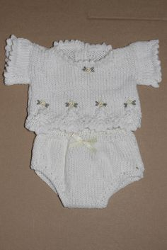 White Knit Set 1 to fit 14 inch doll or tiny prem baby 1 only available