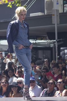 Blue is the warmest colour. Shirt - Levi's. Leather jacet – Coop by Trelise Cooper. Jeans - Levi's.        New Zealand's Longest Catwalk - 2016 ... 28  PHOTOS        ... This catwalk takes more about 125 m down the middle of Queen Street. In the show featured 40 models wearing more than 80 of the newest fashion looks.        Read original article:         http://softfern.com/NewsDtls.aspx?id=1076&catgry=7            #SoftFern News, #current season's garments