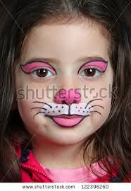 Pretty Girl Face Painting Cat Stock Photo (Edit Now) 122396260 – Body Painting Bunny Face Paint, Easter Face Paint, Simple Cat Face Paint, Cheshire Cat Face Paint, Simple Face Painting, Easy Face Painting Designs, Girl Face Painting, Painting For Kids, Kids Makeup