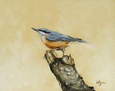 Original oil painting  wildlife art  portrait of by johnspaintings