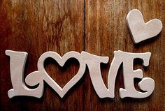 """""""LOVE"""" - Hand Crafted MDF Novelty Plaque 10.5"""" x 3.5"""" - 9mm Thick"""