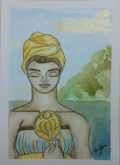 05.07.2016 O tema hoje foi dado por um amigo: Orixás. Tenho um certo apreço pelo tema, pela vastidão de símbolos e beleza das imagens, em especial pelas orixás femininas. Olhando na minha parede onde prendi meus desenhos, notei que haviam referencias...