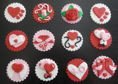 18 Best Love Themed Fondant Cupcakes Images Fondant Cupcakes