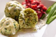Wild garlic dumplings from Thermomix® ❤️ Irresistible recipes for . - Wild garlic dumplings from Thermomix® ❤️ Irresistible recipes for and ✅ - Salad Recipes Healthy Lunch, Salad Recipes For Dinner, Healthy Chicken Recipes, Easy Healthy Recipes, Lunch Recipes, Mexican Food Recipes, Vegetarian Recipes, Ethnic Recipes, Drink Recipes