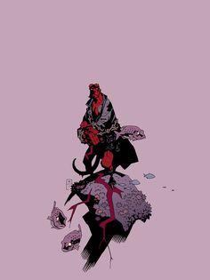 westcoastavengers:  Hellboy by Mike Mignola