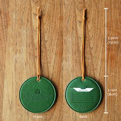 MochiThings.com: Round Leather Luggage Tag