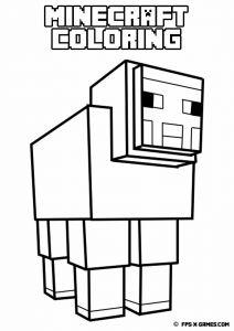 Minecraft Coloring Page With Few Details For Kids Ausmalbilder Zum Ausdrucken Malvorlagen Tiere Malvorlagen Zum Ausdrucken