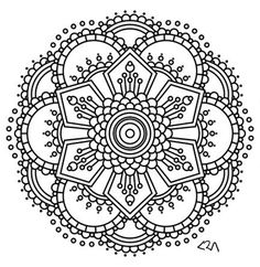 Coloring Page Mandala Instant PDF Download Printable Coloring