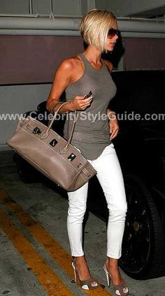 Victoria Beckham Style and Fashion - Rick Owens Tank top with ribbing on Celebrity Style Guide