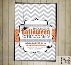 Halloween Party Invitation ~ Spooktacular Party Invitation DIY Printing