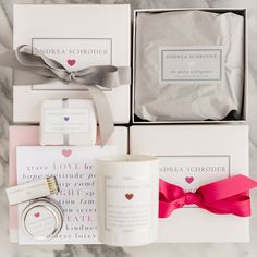 http://www.productinterest.com/andrea-schroder-gifts/ #AndreaSchroder Our Specialty Gift Box includes 1 large candle of your choice, 1 notecard, 1 soap, 1 travel candle, gift wrap, and free shipping. Simply choose your candle scent, ribbon color, soap, notecard and travel candle from the list. If you would like a message written in the notecard, write the message in the 'Order Comments' […]
