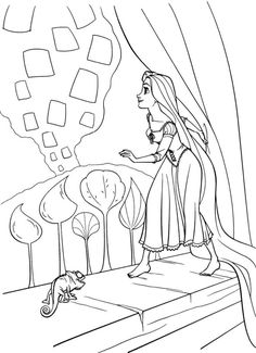 45 Best Tangled Rapunzel Colouring Pages Images Rapunzel