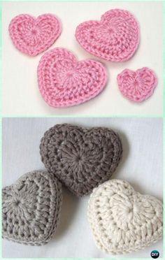 Crochet 3D Love Heart Free Pattern- #Crochet Heart Free Patterns