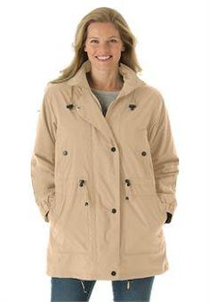 Plus Size Jacket, anorak in weather-resistant Taslon