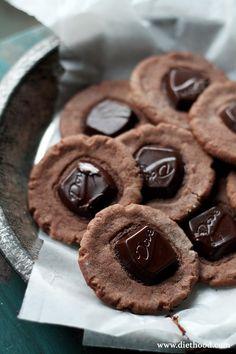 Chocolate Creamy Cookies with Dove @Kate Petrovska | Diethood