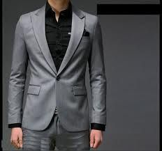 mens grey wedding suit single button - Google Search