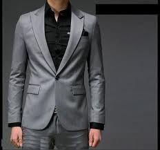 mens grey wedding suit single button - Google Search