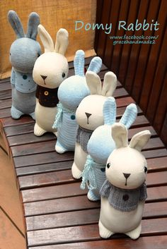 Grace--#407~#412 sock Domy Rabbits