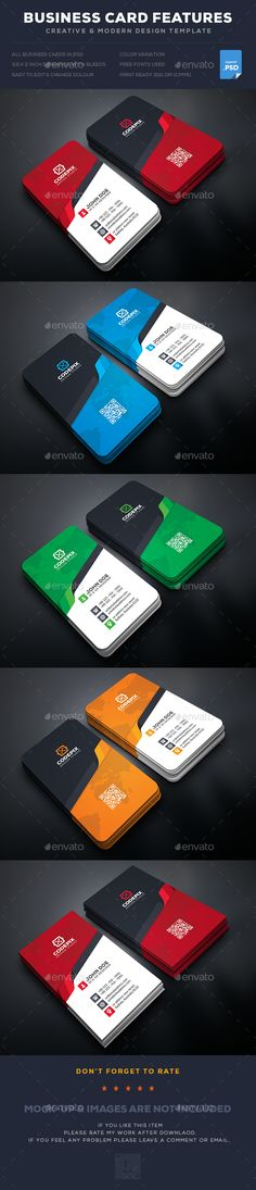 341 best creative business cards images on pinterest business creative business card template psd wajeb Images