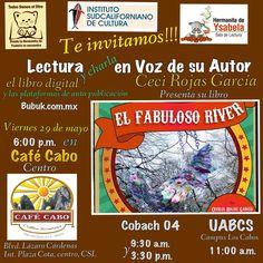 Viernes literario, Lectura en Voz de su autor en Café Cabo con Sala de Lectura de Hermanita de Ysabela