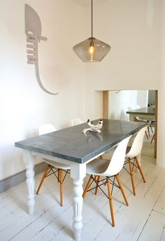 Custom made zinc clad tables, perfect for your dining room, kitchen or garden spaces.