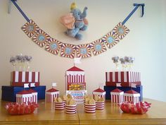 Connor's Etsy/Pinterest 3rd Circus/Dumbo Birthday Party