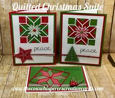 The Cow Whisperer's Creative Cards:Quilted Christmas Suite