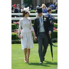 Kate Middleton's Royal Ascot Dress Is New, but It Should Look Awfully... ❤ liked on Polyvore featuring dresses and blue dress