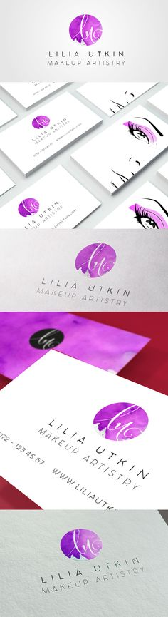 logo and business card make up artist / styling / beauty   Copyright Aileen Burkhardt / punze typografie